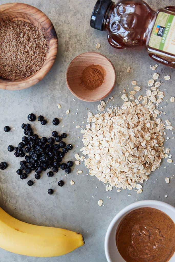 Oatmeal Blueberry Energy Balls Ingredients