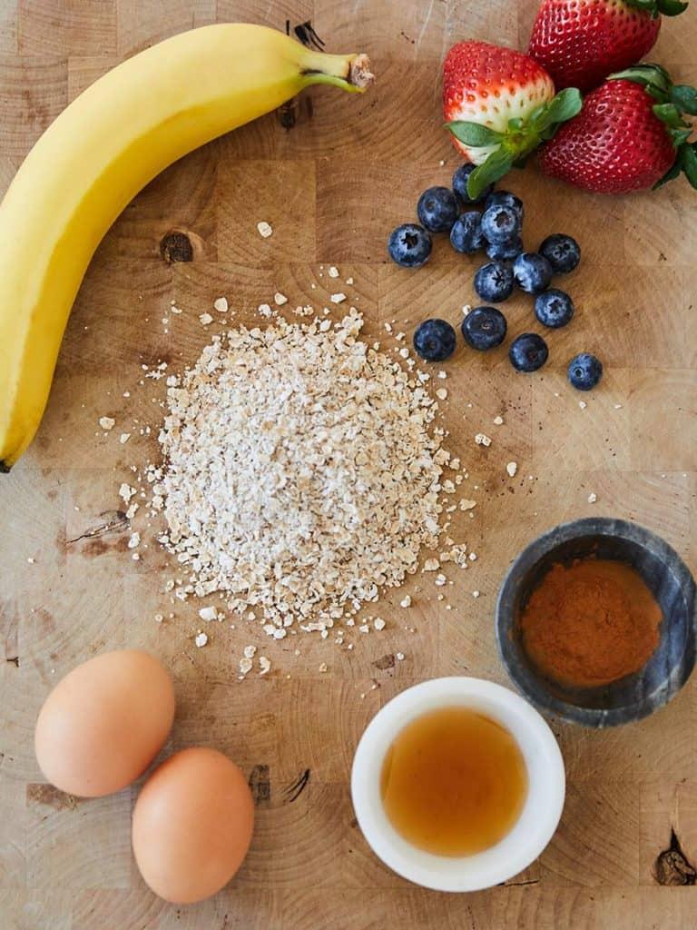 Oatmeal Banana Pancakes Ingredients