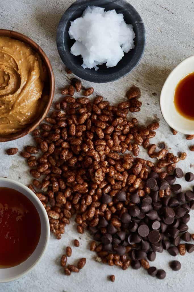 Peanut Butter Chocolate Rice Krispie Treats Ingredients