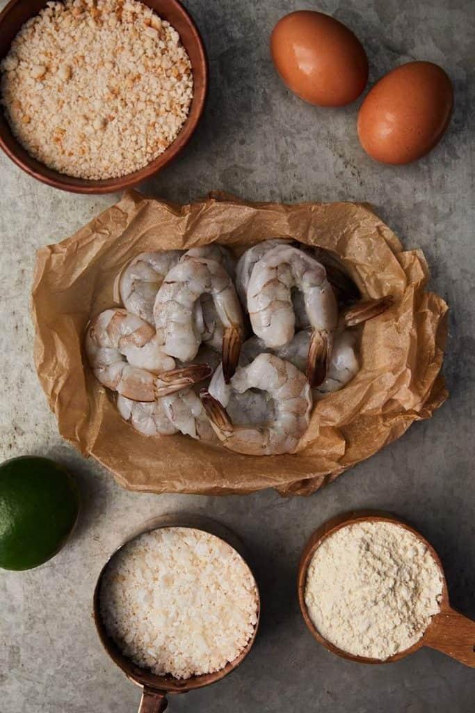 Gluten Free Coconut Shrimp Ingredients
