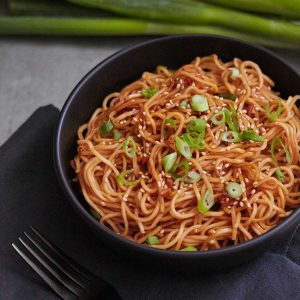Spicy Sesame Garlic Ramen Noodles