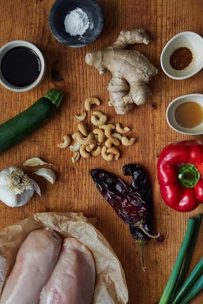 Pressure Cooker Cashew Chicken Ingredients
