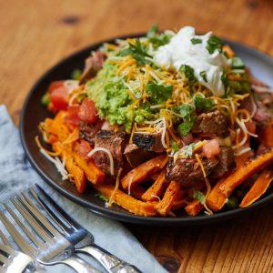 Carne Asada Sweet Potato Fries