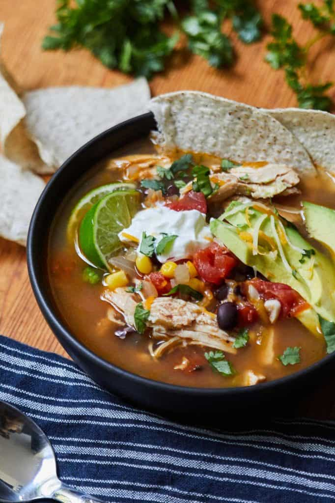 Instant Pot Tortilla Soup with Chicken