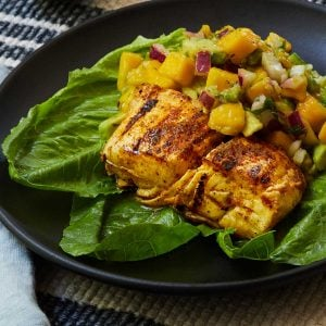 Grilled Halibut with Mango Salsa