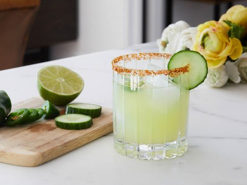 Skinny Spicy Cucumber Margarita