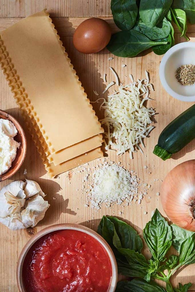 Lasagna Roll-Ups Ingredients