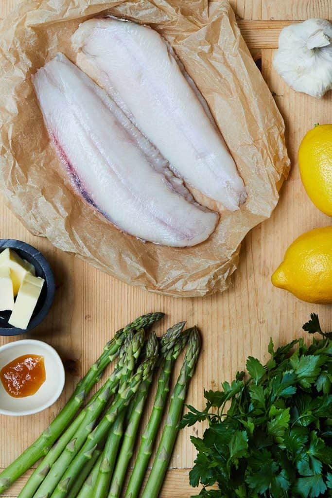 Sheet Pan Lemon Garlic Sole Ingredients
