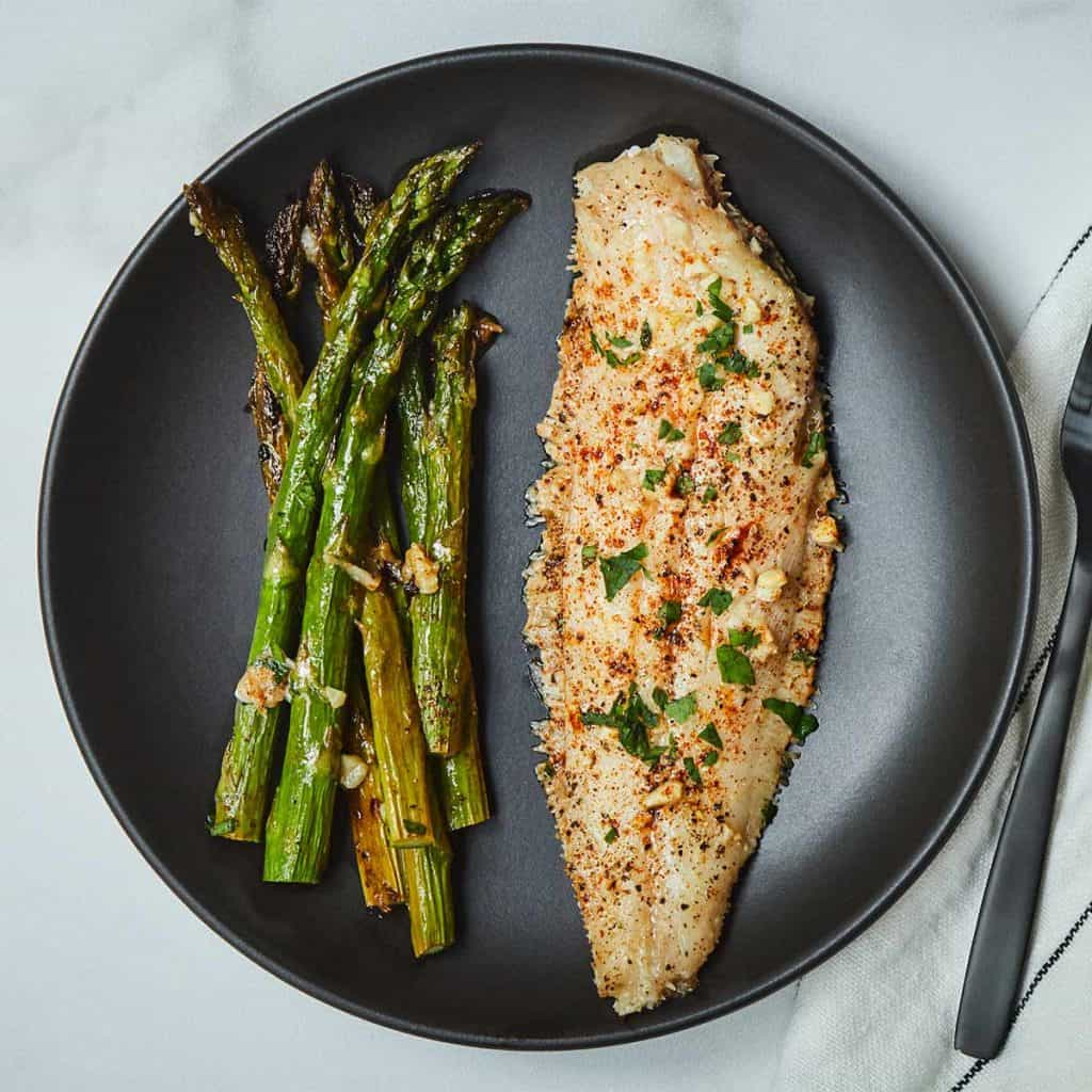Sheet Pan Lemon Garlic Sole