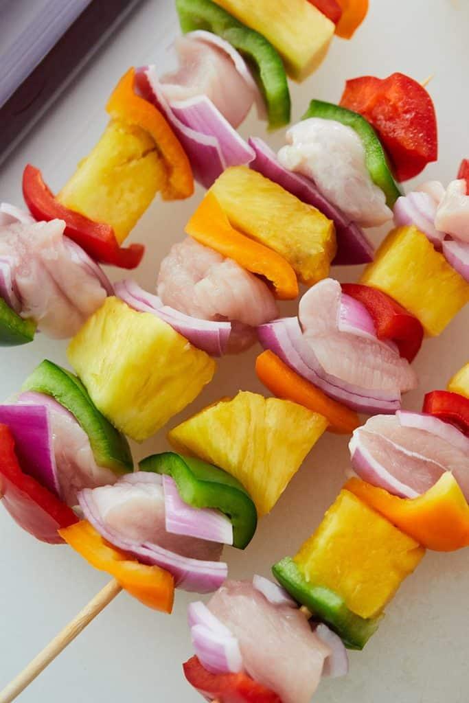 Hawaiian Chicken Skewers Ingredients