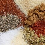 Pinterest graphic of spices needed to make taco seasoning.